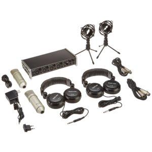 Tascam US-4x4TP комплект оборудования для звукозаписи