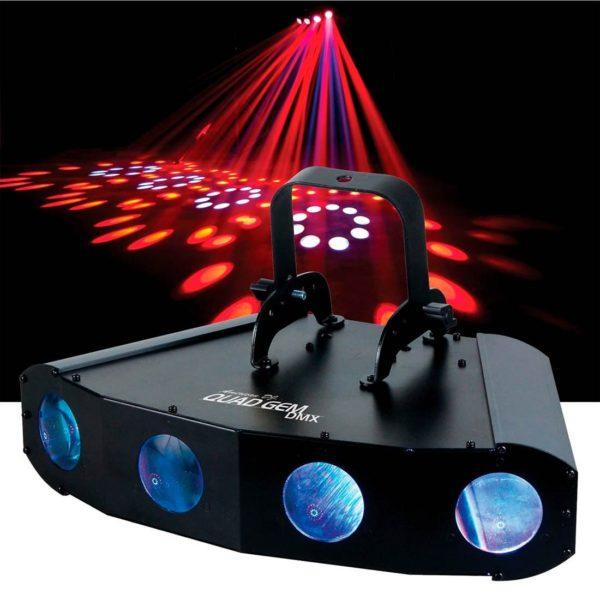 American DJ Quad Gem LED DMX светодиодный прибор с четырьмя линзами