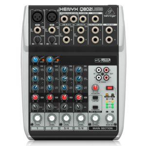 Behringer XENYX Q802USB-EU микшерный пульт 8-канальный